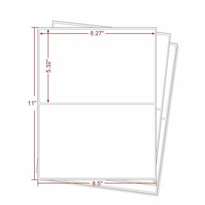 1000 Round Corner Shipping Labels Easy Peel Half Sheet 8.5x5.5 For USPS Paypal