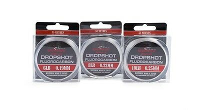 Brand New Korum Snapper Drop Shot Fluorocarbon 50m Spool - All Types Available