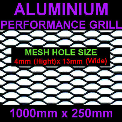 Black Aluminium Racing Grille Net Vent Race Car Tuning 25x100cm Mesh 4x13mm
