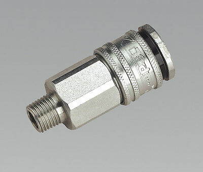 """Sealey AC30 Coupling Body Male 1/4""""BSPT"""
