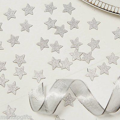 Silver Glitter Star Table Confetti Wedding Hen Party Birthday Christmas
