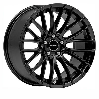 Black Sonic 18X8 Alloy Wheel And Tyre Package- Suit Commodore And Bmw