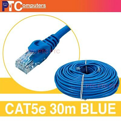 30m Cat5 Cat 5 Cat5e 100mbps RJ45 Ethernet LAN Network Cable Patch Cord Lead