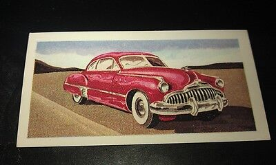 1949 BUICK Orig Colour Trade Card UK