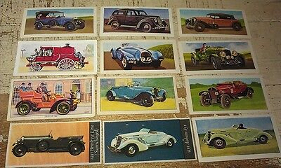 LARGE LOT  of Veteran Vintage Classic Cars Trade Swap Cards AUBURN Rolls Bentley