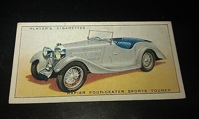 1936 RAPIER TOURER   -     Orig Cigarette Card UK