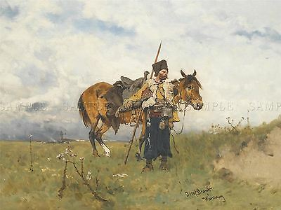 Painting Military Brandt Cossack Watchman Art Print Poster Picture Lf648