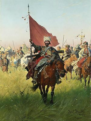 Painting Military Brandt Song Cossack Victors Art Print Poster Lf649