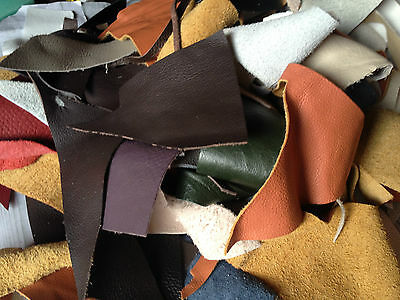 200g 450g 950g 1800g SINGLE AND MIXED COLOURS LEATHER PIECES SCRAPS OFFCUTS