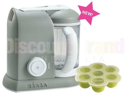 Beaba Babycook Solo Baby Food Processor Steam Cook Blend + Multi Portion Grey