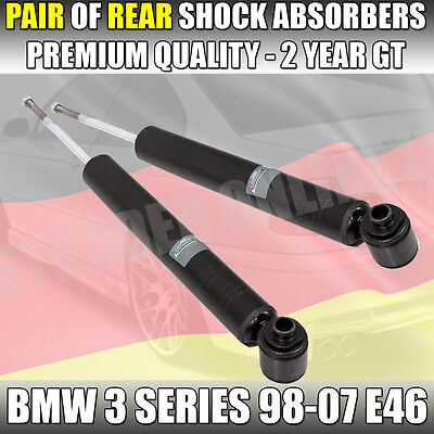 2 X New Bmw 3 Series E46 Rear Shock Absorbers Shockers Dampers Suspension Pair