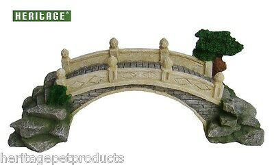 Heritage Hj027 Aquarium Fish Tank River Bridge Archway Ornament 24Cm Swimthrough