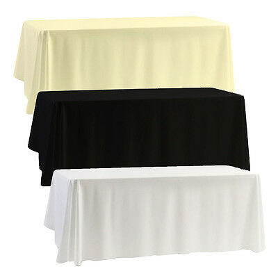 Rectangle Seamless Wedding Tablecloths Bridal Linen Top Table Cloth Cover Party