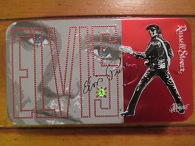 Russell Stovers 1981 Collectible Elvis Tin w/ Elvis Hologram(7 inches x4 inches)