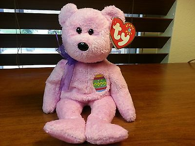Ty Beanie Babies Eggs the Pink Easter Bear 2000