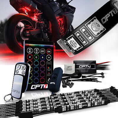 Motorcycle LED Light Kit All-Color Fairings/Body Neon Strips 10pcs Set