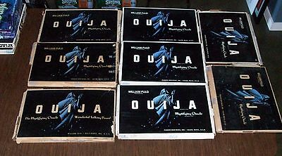 8 Haunted LARGE Old Vintage Ouija Game Board Collection William Fuld 22 X 15 Lot