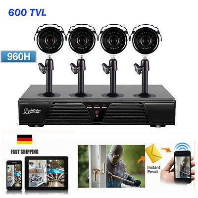 CCTV 8CH Channel H.264 DVR 4 Outdoor IR Night Home Security IP Cam System KIT US