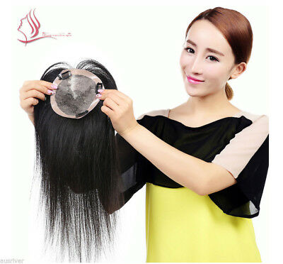 Fashion 30/ 40CM Natural Colour Black 100% Human Hair Women Girl Full Wig