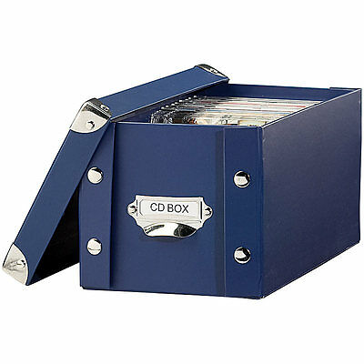 CD Archivbox: CD Archiv Box blau (Cd Dvd Archivboxen)