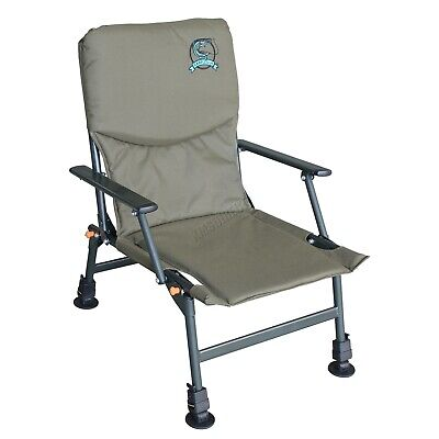 Portable Folding Carp Fishing Chair Camping Heavy Duty 4 Adjustable Legs FC-053