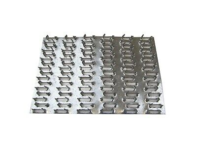 """50 ea 4"""" x 6"""" Truss Plate Mending Plate Nail Teeth Structural Connencting Plate"""