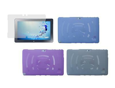 """TPU Skin Cover Case and Screen Protector for Samsung ATIV Smart PC 500T1C 11.6"""""""