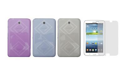 "TPU Skin Cover Case and Screen Protector for Samsung Galaxy Tab 3 7"" SM-T210R"