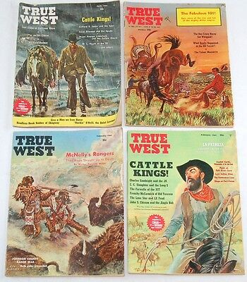 Vintage Lot TRUE WEST & FRONTIER TIMES Magazines x 12  1959-1965