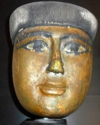 Egyptian Sarcophagus Mask: MUST LIQUIDATE THIS PIECE FOR ESTATE
