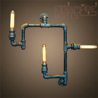 Designer Pipe Light Wall Sconce Vintage Decor Steam Punk Industrial Focal Point