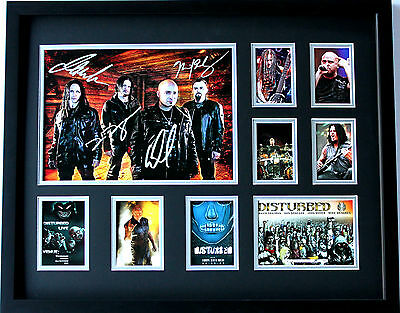 New Disturbed Signed Limited Edition Memorabilia Framed