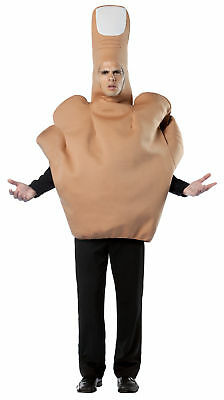 The Finger Adult Men Costume Disguise Bad Humor Funny Giant Hand Body Halloween