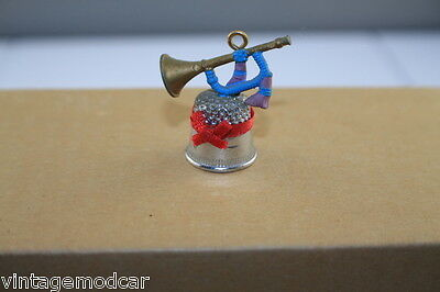 Vintage Thimble Silver-Toned Metal with Trumpet on Top,1986 Enesco Import,