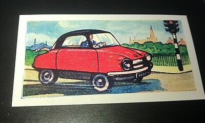 1960 FRISKY  Micro Car  Orig Trade Card UK