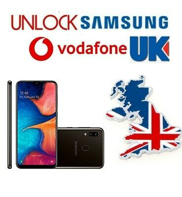 Unlock Code Service for Samsung Galaxy A20 A20e A30 A40 A50 A10 A70 Vodafone UK
