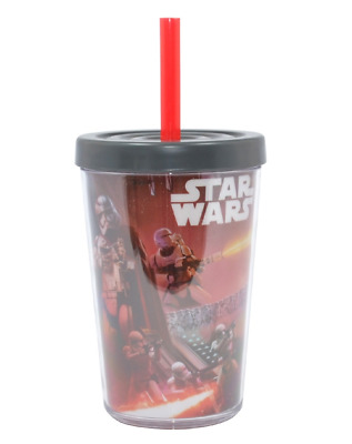 Star Wars The Force Awakens 13Oz Tumbler With Straw Disney Cup New Gift