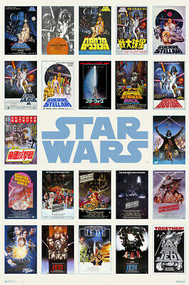"""STAR WARS - MOVIE POSTER / PRINT (ONE SHEET COLLAGE) (SIZE: 24"""" x 36"""")"""