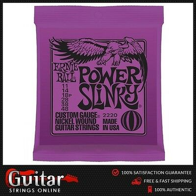 Ernie Ball 2220 Power Slinky Electric Guitar Strings 11-48 New