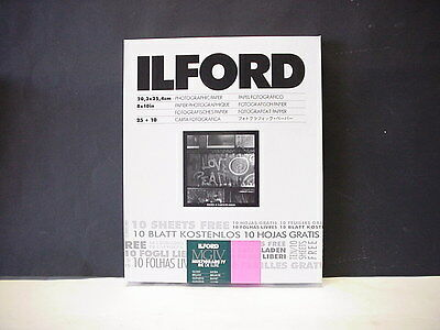 Ilford MGIV Multigrade IV RC Deluxe Glossy 8x10 Photographic Paper 25+10 sheets