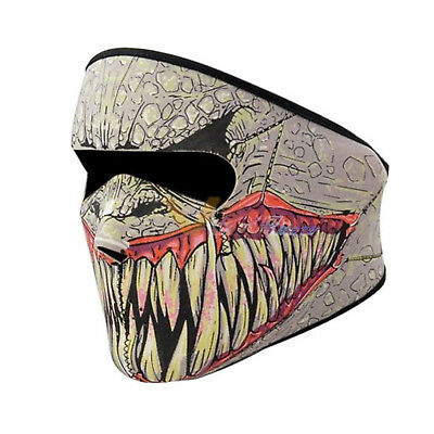 Neoprene Full Face Mask Biker SKULL Sports Motorbike REVERSIBLE Fang Face