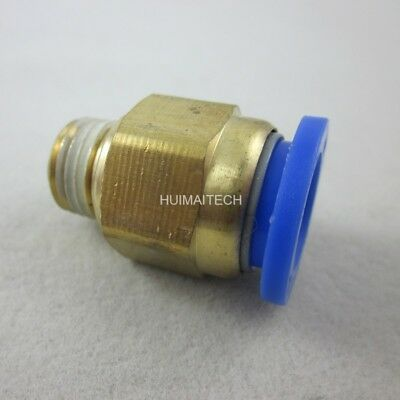 "5pcs 12mm Tube Push in Fitting to 1/4"" BSP Male Thread Pneumatic Connector Air"