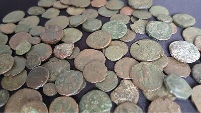 Lot of 10 Low Grade Ancient Roman Coins / 330 A.D. / Constantine the Great Era