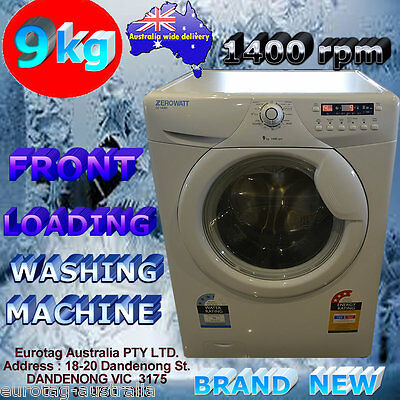9KG FRONT LOADING WASHING MACHINE 1400rpm OZ1409D  - RRP: $1199 brand new