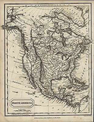 North America United States Russian America scarce 1831 antique engraved map