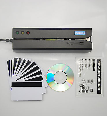 New MSR605X USB Magnetic Stripe Credit Card Reader/Writer Encoder Swipe MSR206