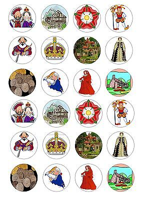 24 London Bus Routemaster Wafer Rice Paper Cupcake Topper Fairy Bun Toppers