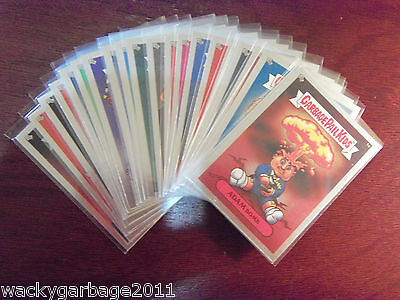 2003 GARBAGE PAIL KIDS All New Series 1 ANS-1 Complete Glossy Silver Foil Set NM