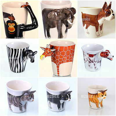 Funny Novelty Dog Animal Cat Mugs Collectable Handmade