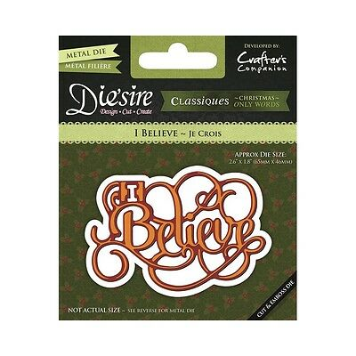 Crafters Companion DIESIRE Christmas Only Words Die I BELIEVE DS-CXBELI